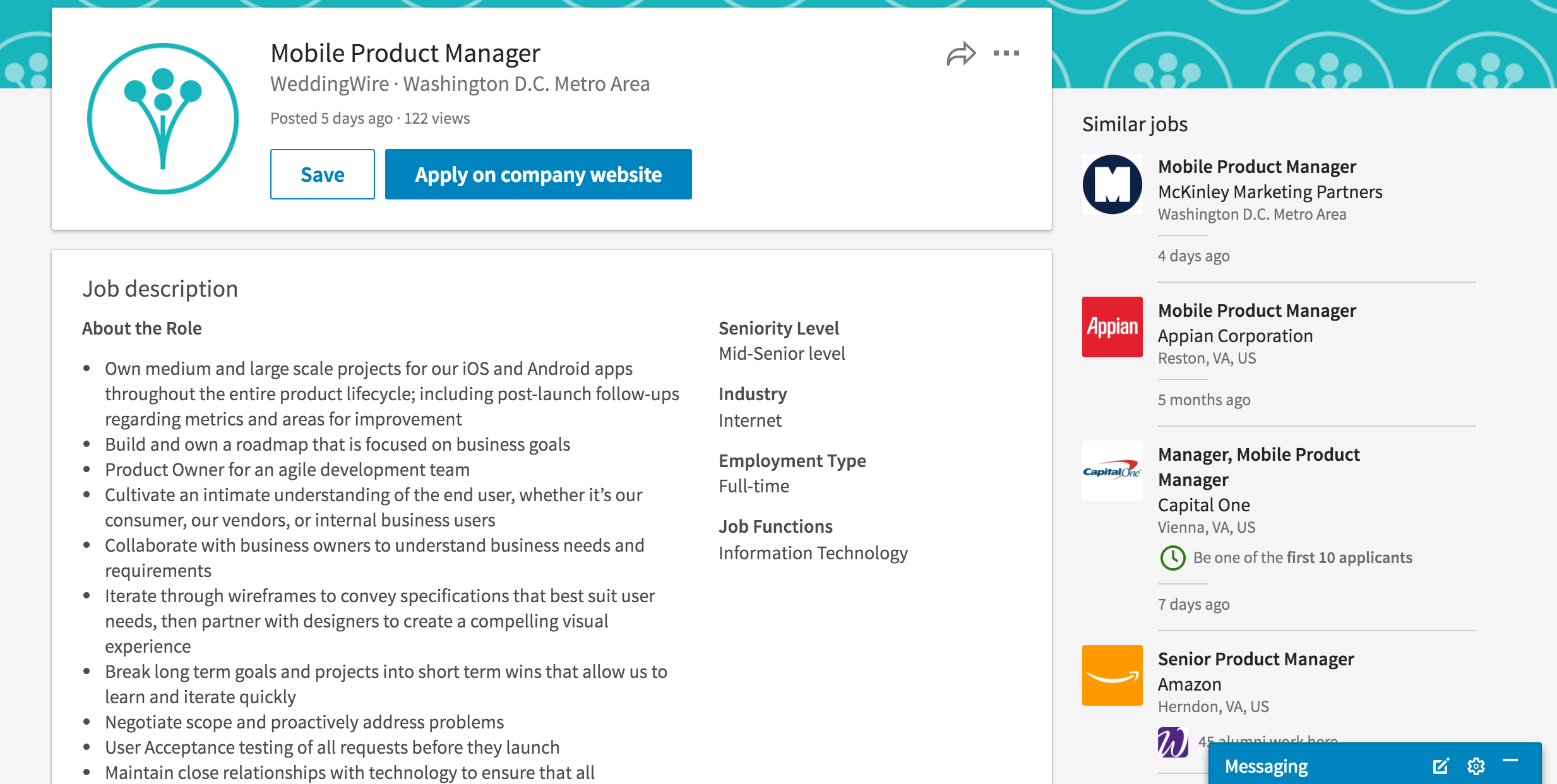 Mobile Product Manager at WeddingWire on LinkedIn